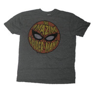 Mens Spider-Man The Amazing Spider-Man Tri Blend Gray T-Shirt by Junk Food Clothing
