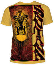 SANTANA LION BIG PRINT SUBWAY MENS TEE SHIRT