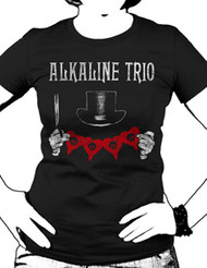 ALKALINE TRIO TOP HAT JUNIORS TEE SHIRT