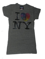 I Heart New York Tri Blend Girly T-Shirt by Junk Food Clothing