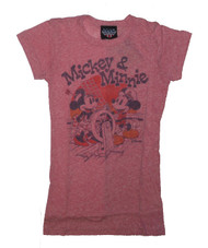 Mickey Mouse & Minnie Cruising T-Shirt by Junk Food Clothing