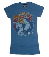 The Beatles Girly T-Shirt in Blueberry by Junk Food Clothing