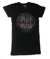 The Who Kids Alright Tour Girly T-Shirt by Junk Food Clothing