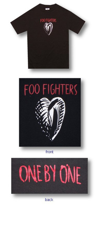 The Foo Fighters Ink Heart Mens Tee Shirt