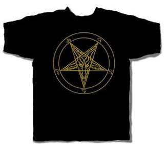 BAPHOMET PENTAGRAM MENS TEE SHIRT