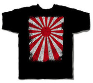 Distressed Rising Sun Logo Mens Tee Shirt