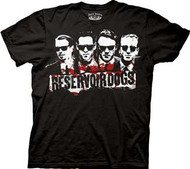 Reservoir Dogs 4 Faces Mens Tee Shirt