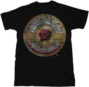 Grateful Dead Black American Beauty Retro Tee Shirt