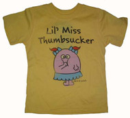 David & Goliath Lil Miss Thumbsucker Toddler Tee Shirt