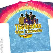 The Beatles Yellow Submarine Nothing Is Real Tie Dye Tee Shirt