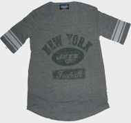 Junk Food NFL New York Jets Vintage Distressed Tri Blend Varsity Womens Tee Shirt