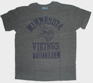 Mens NFL Minnesota Vikings Vintage Distressed Tri Blend Tee Shirt by Junk Food Clothing
