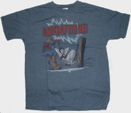 Mens Spider-Man Catch of the Day Tee Shirt by Junk Food Clothing