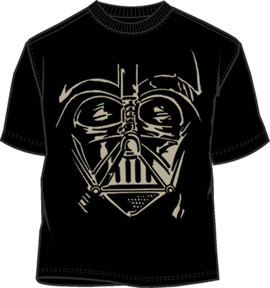 STAR WARS VADER NATION MENS LIGHTWEIGHT BIG FACE COSTUME TEE SHIRT