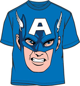 Captain America Big Face Costume Tee Shirt