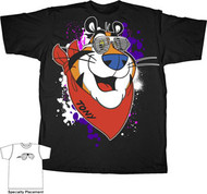 Kelloggs Frosted Flakes Tony The Tiger Shutters Mens Tee Shirt