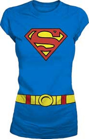 Supergirl Costume Juniors Tee Shirt