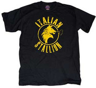 Rocky Italian Stallion Mens Tee Shirt in Black