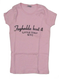 Faghedda Bout It Juniors Pink T-Shirt