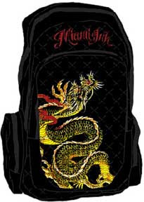 MIAMI INK SNAKE BLACK BACKPACK