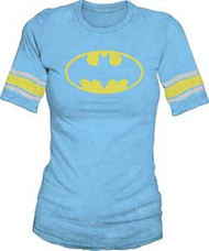 Batman Logo Blue Hockey Juniors Tee Shirt