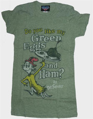 Junk Food Dr. Seuss Green Eggs and Ham Womens Tri-Blend T-Shirt