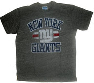Junk Food Mens NFL Vintage Distressed New York Giants T-Shirt