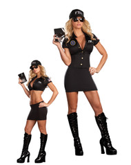 Sexy FBI Womens Costume