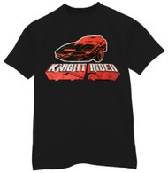 Knight Rider Kitt Car Distressed Mens Tee Shirt