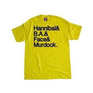 The A-Team Hannibal and BA and Face and Murdock Mens T Shirt