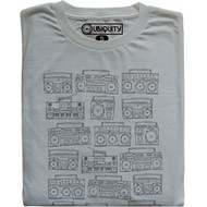 Vintage Style Juniors Ubiquity Records Boombox Retro Tee Shirt