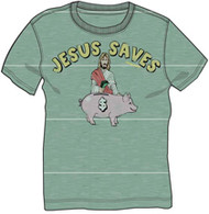David and Goliath Jesus Saves Mens Tee Shirt
