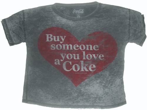 Buy Someone You Love a Coke Womens Boxy T Shirt by Chaser Tees