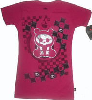 Skelanimals Checkered Foil Vintage Style Tee Shirt