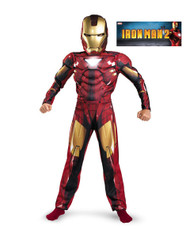 Boys Classic Muscle Iron Man Mark VI Costume
