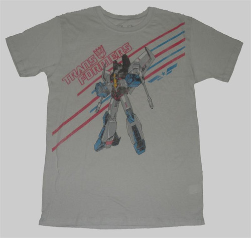 Transformers Jet Fire Mens Vintage Style Tee Shirt