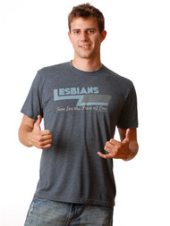 Lesbians Two For The Price of One Mens Tee Shirt by Crooked Monkey