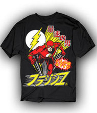 DC Comics Japanese The Flash Mens Tee Shirt