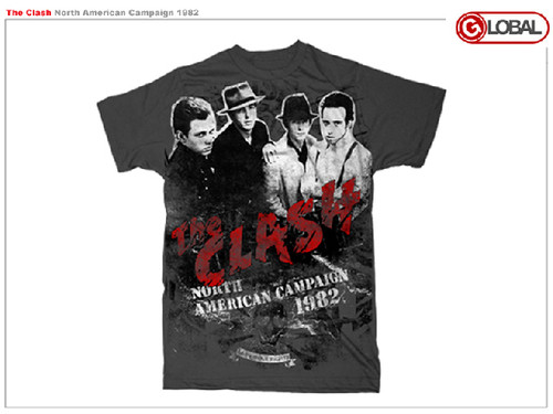 The Clash North American Campaign 1982 Mens Tee Shirt
