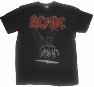 Mens AC/DC T-Shirt in Black Wash by Junk Food Clothing