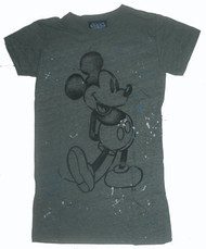 Mickey Mouse Green Splatter Womens T-Shirt by Junk Food Clothing