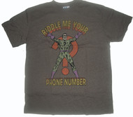 Mens Riddle Me Your Phone Number The Riddler Junk Food Tee Shirt
