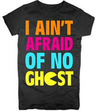 Pac-Man I Ain't Afraid of No Ghost Vintage Style Juniors Tee Shirt