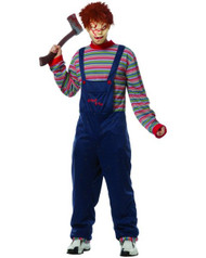 Mens Chucky Childs Play with Mask Costume