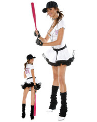 Sexy Womens Fantasy League Baseball Costume