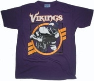 Junk Food Mens NFL Cracked Vintage Minnesota Vikings Tee Shirt