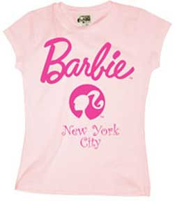 Barbie Head Silhouette NY Girls Tee Shirt