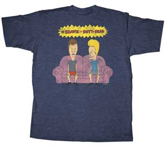 Beavis and Butthead Couch Head Mens Tee Shirt