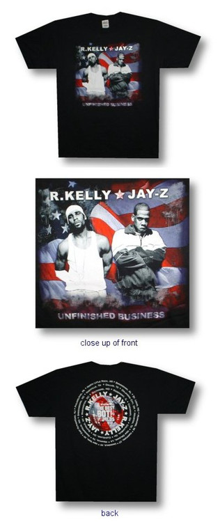 Jay Z and R Kelly Unfinished Business Mens Tee Shirt