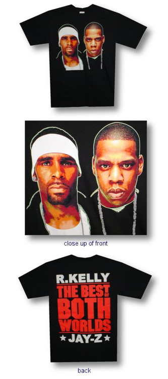 Jay Z and R Kelly Best of Both Worlds Mens Tee Shirt